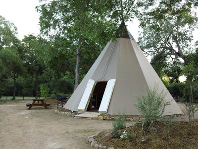 From the outside it looks like a traditional native american tipi.