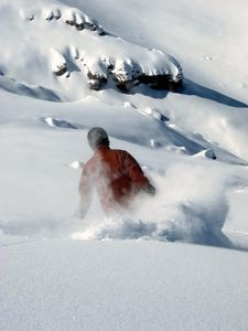Your host, enjoying the powder near his Casa Farellones home in Chile