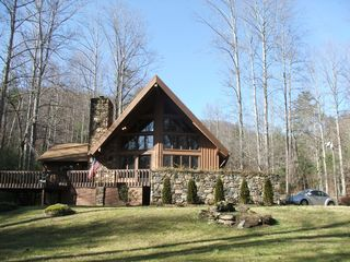 Hawk's View - 3 acre private yard & pool - Asheville chalet vacation rental photo