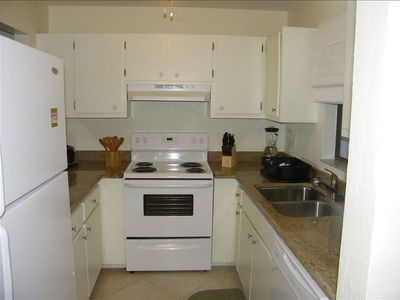 Castel Del Mare Condo #105 Kitchen. All new Appliances.
