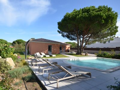 Calvi-Holiday villa for 6/8 people with private swimming pool in a securearea