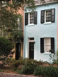 Our charming rowhouse is a short walk to Forsyth Park or River Street.