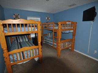 Emerald Island house photo - Bedroom 7 - bunk beds, LCD TV, private access to Jack & Jill bathroom