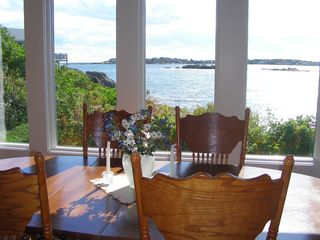 Biddeford house photo - Spectacular views of rocky cove and beach--lobster boats tend their traps.