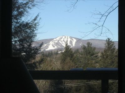 View of Bromley Mountain from the great room and deck!