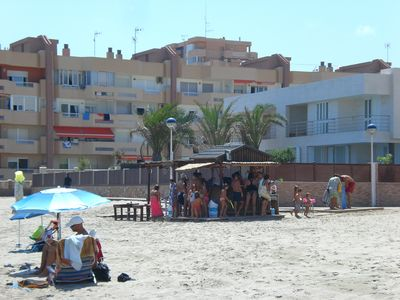 Local Mediterranean beach, Plaza bohemia (5 min walk)