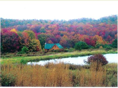 Damascus cabin rental - Galilee Log Cabin With A Private Pond