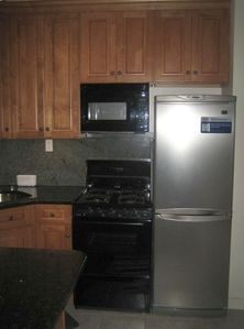 full kitchen stove top and oven
