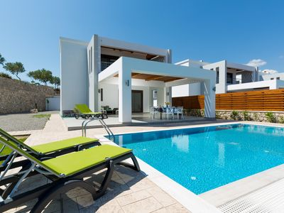 Lachania Beach Villas ***** - VILLA APHRODITE - BEACHFRONT 3 BEDROOMS W/P
