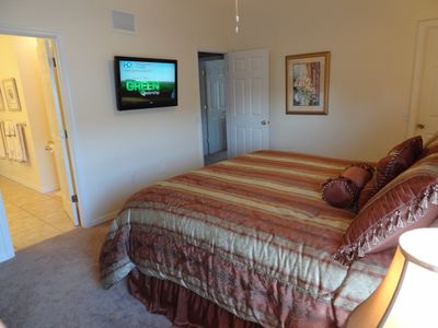 Master Bedroom with 37 inch Flat Panel TV