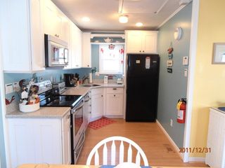 Cape May house photo - Kitchen has upscaled appliances - Oven and Mircowave are both convection.