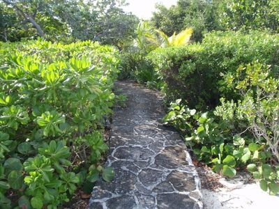 Driftaway path to private swimming area in the Sea of Abaco