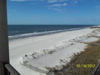 Gulf Shores condo photo - View to the west ... sunsets and Sea & Suds restaurant in walking distance!