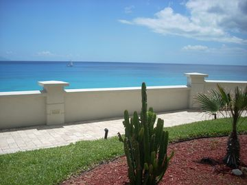 View of Caribbean Sea from Garden Area at The Cliff