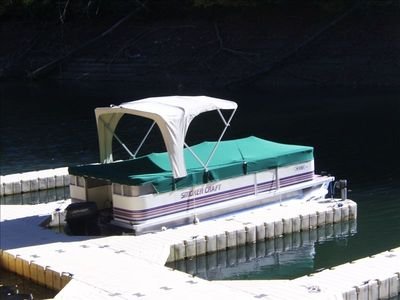 20 ft pontoon boat ideal for fishing or just simply tooling around.