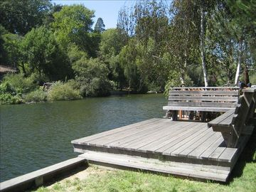 Capitola house rental - The deck overlooking the creek