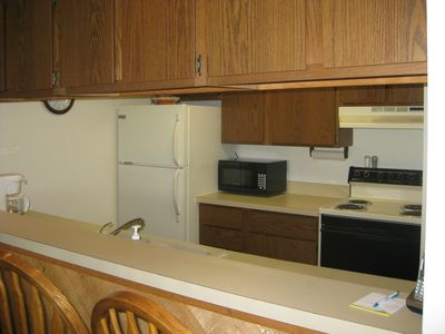 Bellaire / Shanty Creek condo rental - Brand new microwave oven in kitchen.