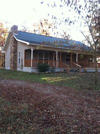 Lake Ouachita house rental - Front of House as you come up the driveway