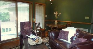 Greensboro house photo - Living Room in our NC Vacation Rental with Gas log Fireplace