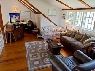 Chilmark house photo - TV/Family Room Loft Has Media Center & Additional Entertaining Space