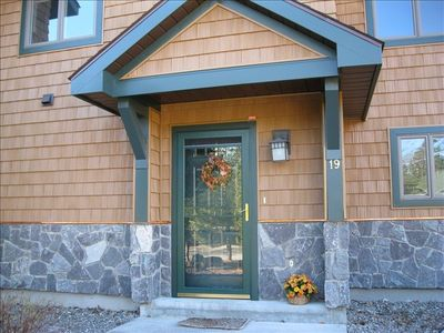 Welcoming front entry always dercorated for the season