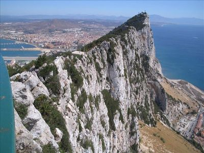 Take a cay trip to Gibraltar, only a few hours away by  car or bus.