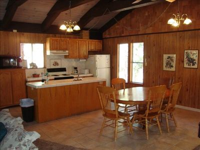 Heavenly Valley house rental - Kitchen and dining area; (2) additional tables and enough chairs for 12 persons.