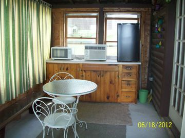 Porch of Guest/overflow cabin