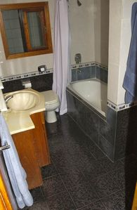 Second Floor En Suite Bathroom with shower, tub and bidet.