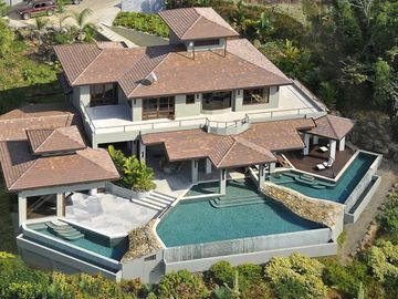 Aerial of House and pools