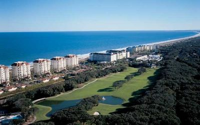 Aerial View of Summer Beach Golf Resort