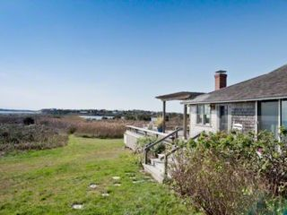 Chilmark cottage photo - Martha's Vineyard Vacation Rentals Chilmark Beach House: Property Sits Directly On Insection Of Stonewall Beach & Stonewall Pond