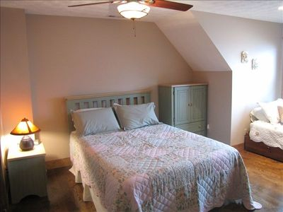 French Lick cabin rental - Upstairs is a queen size bed and a twin bed