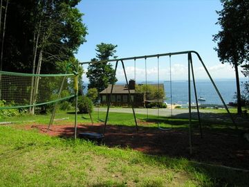 Badminton/volley-ball and 12' high swings