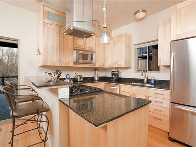 Wonderful kitchen with stainless steel appliances and granite countertops!
