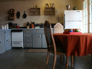 Santa Fe cottage photo - Kitchen has a 4-burner stove/oven and full-sized fridge