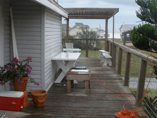 Galveston house photo - Deck looking East