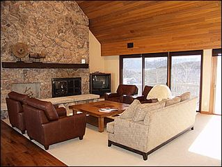 Snowmass Village house photo - Living Room with gas fireplace