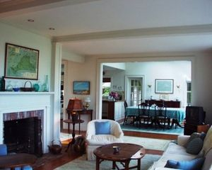 Chappaquiddick house photo - Living Room and Dining Room