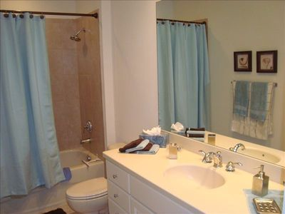 Second Bathroom with Bathtub adjacent to Second Bedroom