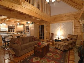 Open Great Room & Kitchen - Wears Valley cabin vacation rental photo