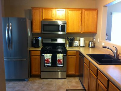 New stainless appliances. Gas stove. Keurig coffee maker.