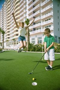 You and your kids will love our Outdoor Putting green and INDOOR Put Put Course