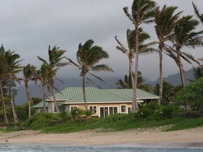 View of the home from the beach.