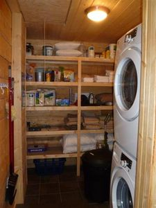 Separate laundry & utility/storage room
