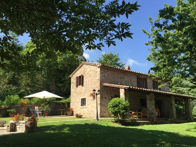 Tuscan stone farmhouse with private pool