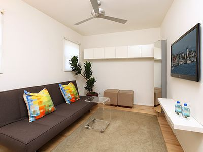 Second bedroom featuring high-end futon bed. Guaranteed great night sleep :)