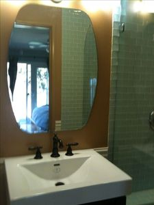 Newly remodeled designer bathroom.