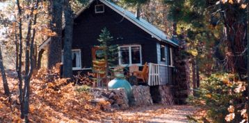 Boulder Bay cabin rental - One of Big Bear's most romantic vintage cabins next to the national forest.