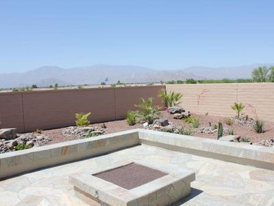 South Facing patio offers Excellent views of Santa Rosa, Mount San Jacinto!